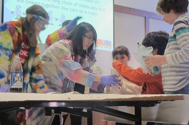"Wesleyan's Science Outreach Club members and students enrolled in the CHEM 214 course, ""Informal Science Education for Elementary School Students"" worked with Wesleyan faculty and staff to organize the event."