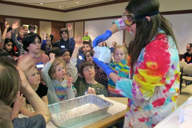 On April 5, Wesleyan hosted Science Saturday for about 55 area school children.