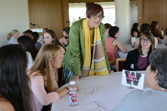 Connecticut Congresswoman Rosa DeLauro mingled with several student-athletes at the event.