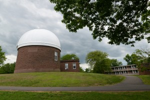 The refractor telescope is located inside the iconic dome on Foss Hill.