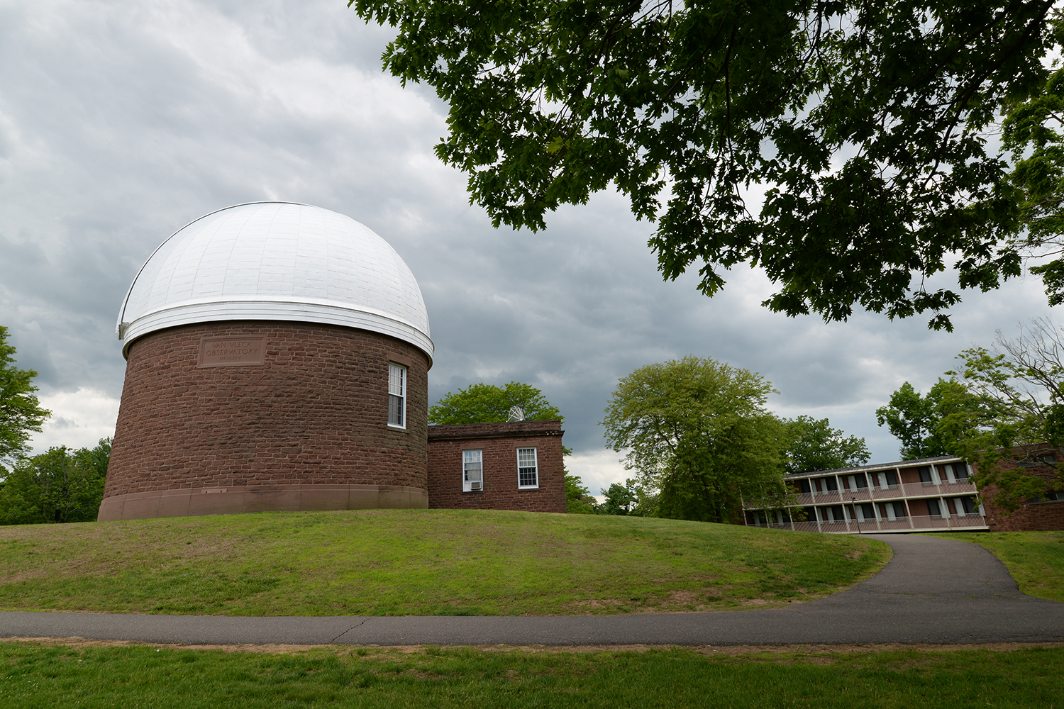 The Van Vleck Observatory on Foss Hill.