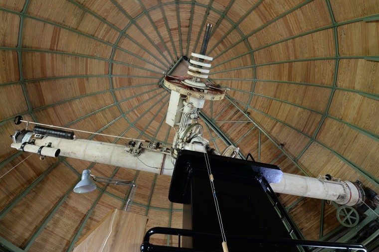 Wesleyan's 20-inch refractor telescope, located inside the Van Vleck Observatory on Foss Hill, will undergo renovations for the next 15 months. (Photo by Olivia Drake)