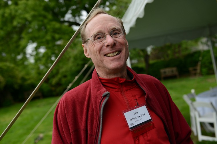Ted Ridout '64, P '04 of Wayland, Mass. celebrated his 50th reunion.