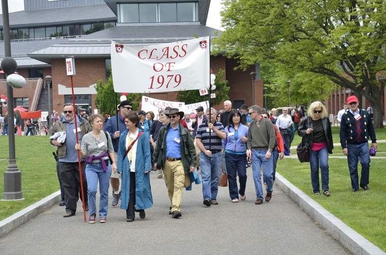 Alumni walk in the traditional Parade of Classes on May 25 during Reunion & Commencement Weekend.
