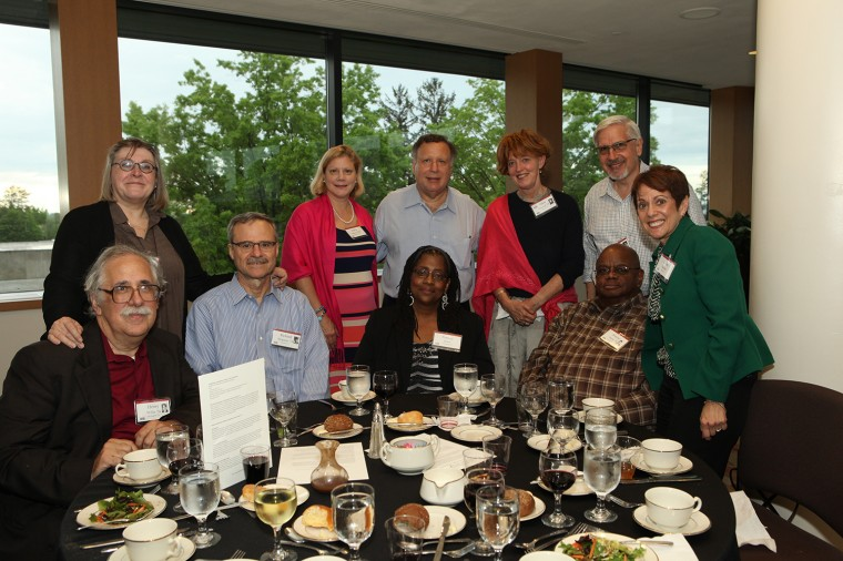 Members of the Class of 1974 gathered for a reception and dinner at the Daniel Family Commons in Usdan University Center on May 24.  (Photo by Rick Ciaburri)