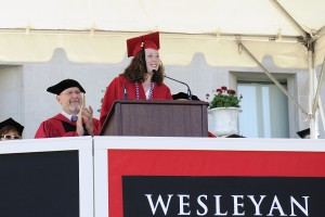 Manon Lefèvre '14 delivered the Senior Class Welcome at Commencement on May 25: