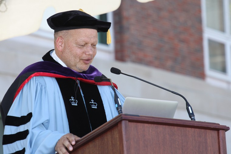 Theodore Shaw '76, delivered Wesleyan's 182nd Commencement Address on May 25. (Photo by Photo by Rick Ciaburri)