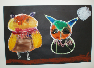 "Students at Libson Regional School in Libson, N.H. submitted drawings of nocturnal owls to the ""Earth Out Loud"" project. ""Earth Out Loud"" encourages students and educators to submit artwork, writing, reports, podcasts or photographs related to the site's episodes."