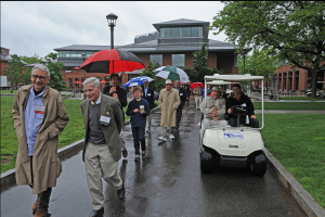 All alumni and their families are invited to walk in the traditional Parade of Classes scheduled for 11:30 a.m. at Usdan University Center. The parade is immediately followed by the Assembly and Annual Meeting.