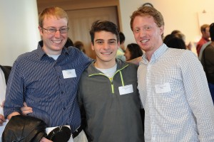 Pictured are, at left, Benjamin Jacobs '14 and Benjamin Carus '14. Jacobs received the Sheng Prize, a Fulbright Fellowship and the Hallowell Prize. Carus received the Plukas Teaching Apprentice Award and White Prize. Alex Iselin '14 received the Plukas Teaching Apprentice Award, Wilde Prize and White Prize.