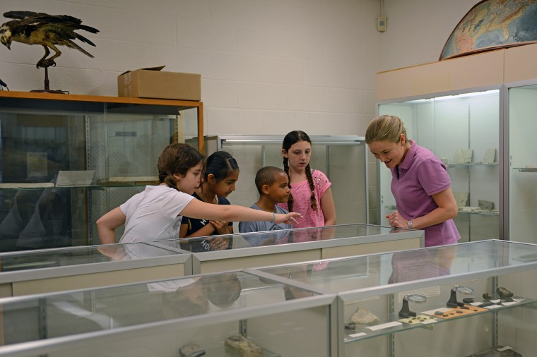 Students also visited the Joe Webb Peoples Museum and Collections in Exley Science Center.