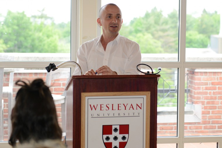 "Fiction writer Salvatore Scibona taught sessions on ""Novel and Short Story"" during the conference."