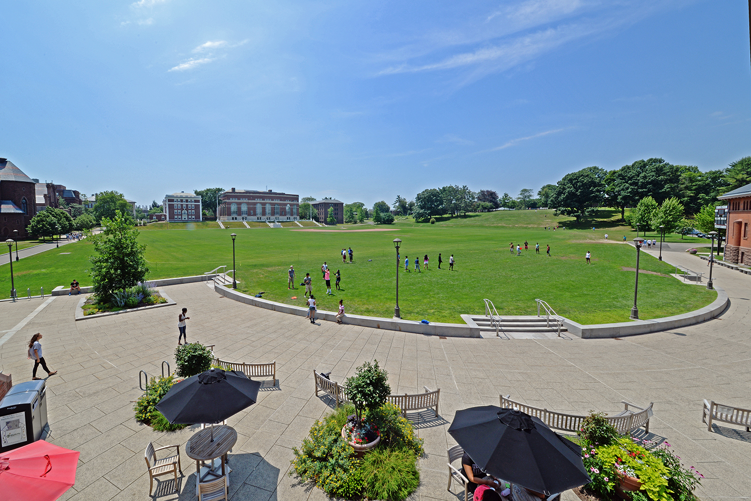 The six-week academic summer program offers intensive math, science, writing and language training; counseling, mentoring and academic support services; exposure to Wesleyan's faculty members who do research in mathematics and the sciences; and education or counseling services designed to improve the financial and economic literacy of students.