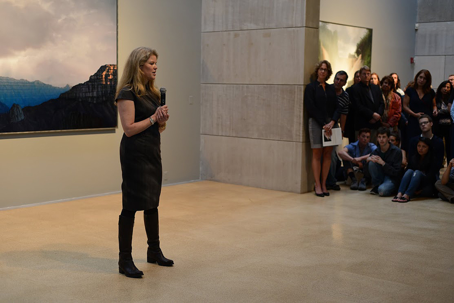 On Sept. 16, Professor of Art Tula Telfair spoke about her new landscape paintings which are on display through Dec. 7 in the Ezra and Cecile Zilkha Gallery.
