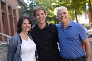 On Sept. 25, Lisa and Scott Josephs of Chapel Hill, N.C. flew to Connecticut to attend Family Weekend with their son, Aaron '18. This is their fourth visit to campus.