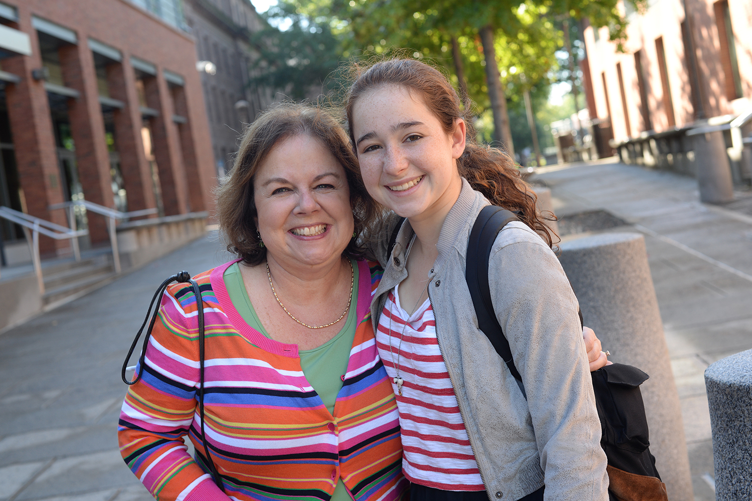 Diane LaPointe '79, P'17 of Bedford, N.Y. is attending Family Weekend with her daughter, Megan Dolan '17.