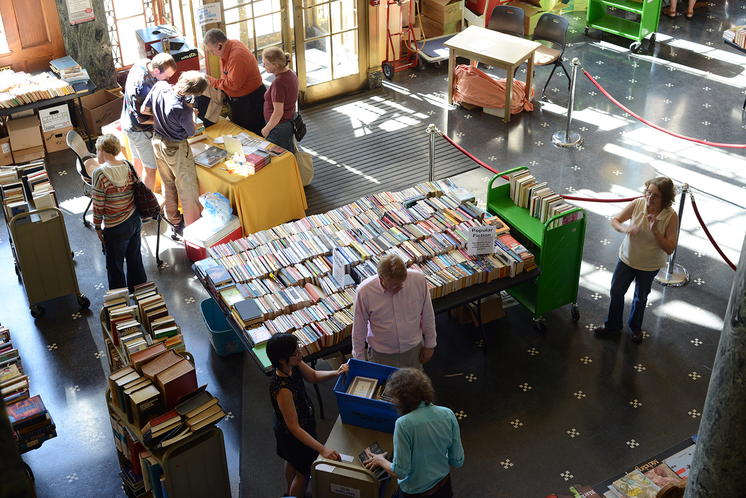 The book sale was open to Wesleyan students, faculty and staff, and the local community.