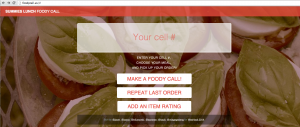 "The ""FoodyCall"" app received first place in the Hackathon event."