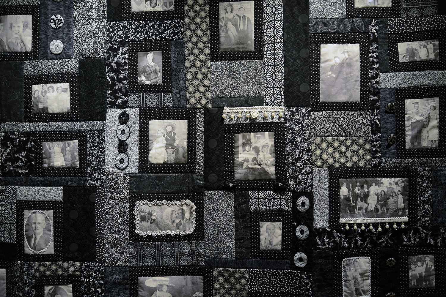 Deborah Griffin-Sierpinski, administrative assistant for the Medieval Studies Program, Classical Studies Department and Archaeology Program, is presenting a scrapbook photo quilt. She also teaches a quilting class through Middletown Adult Education.