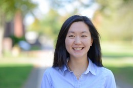 Angela Yoo '15 is co-coordinator of the tutoring program, WesReads/WesMath, which allows Wesleyan students to tutor at two different local elementary schools. (Photo by Olivia Drake)