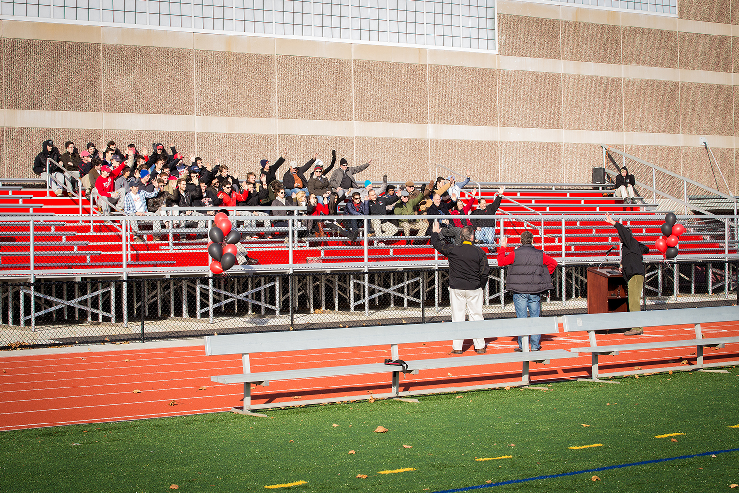 On Nov. 22, Wesleyan formally dedicated its new synthetic turf field, naming it Citrin Field, in honor of the Citrin family. The turf field is located to the south of the Freeman Athletic Center inside Andersen Track.