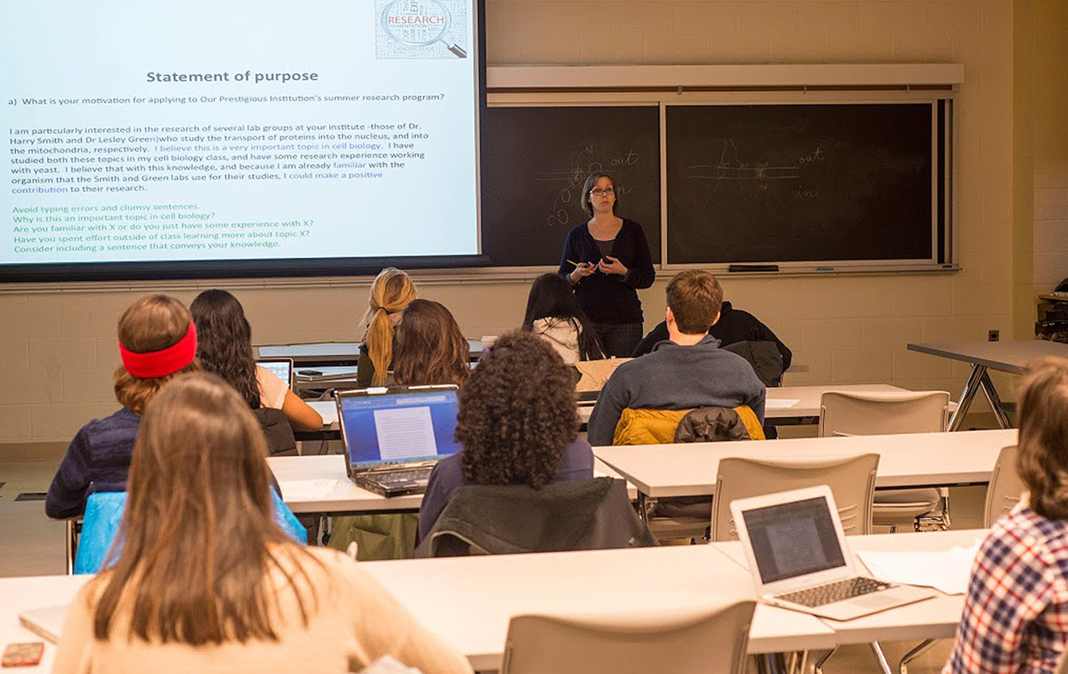 Students were required to attend both sessions and complete a mock application. The workshop also provided guidance on locating appropriate summer research programs and requesting supporting letters of recommendation.