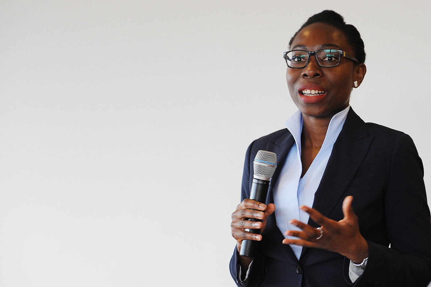 Hirut Mcleod '00, a management consultant at The World Bank, delivered the keynote address. Mcleod has experience coaching leaders at all levels in Africam Asian and the Balkan region. She served as elected alumna trustee of the Wesleyan Board of Trustees from 2012-2014.
