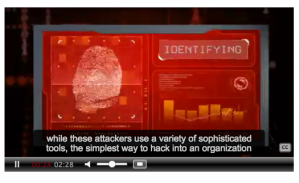 The ITS training videos teach computer users about cyber criminals.