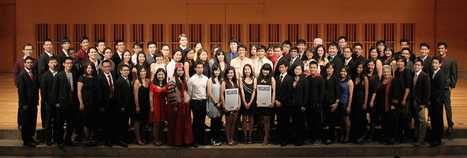 Pictured are all current Freeman Scholar students and local Freeman Scholar alumni.