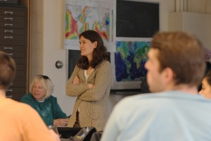 Kim Diver, visiting assistant professor of earth and environmental sciences, taught the class.
