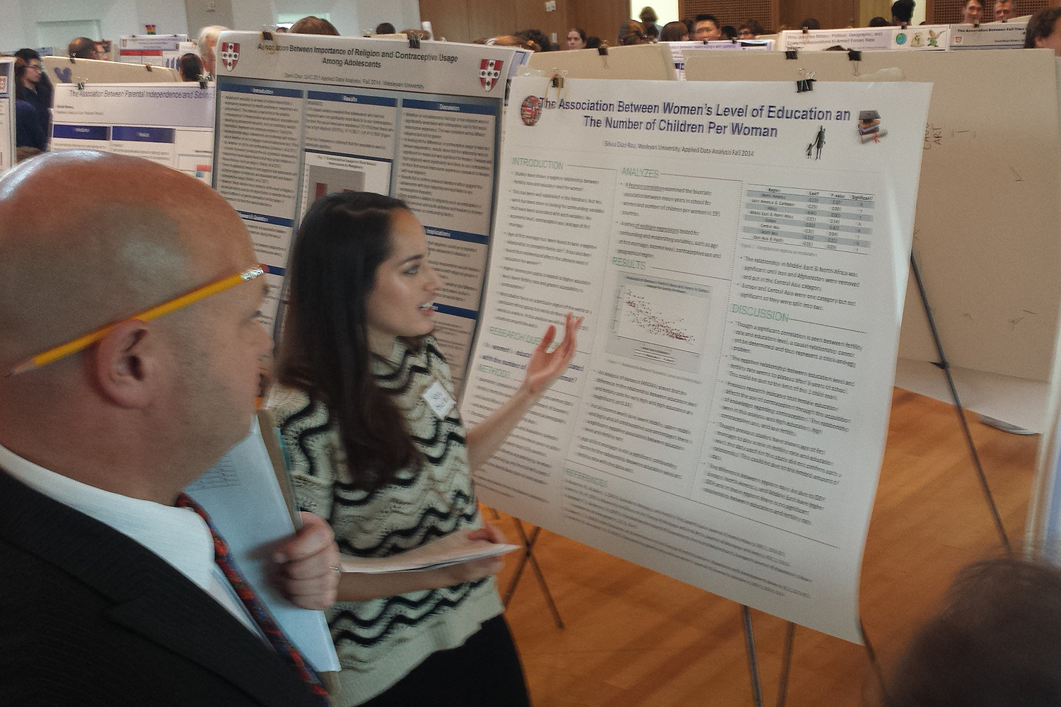 Silvia Diaz-Roa '15 presented her research at the poster session.