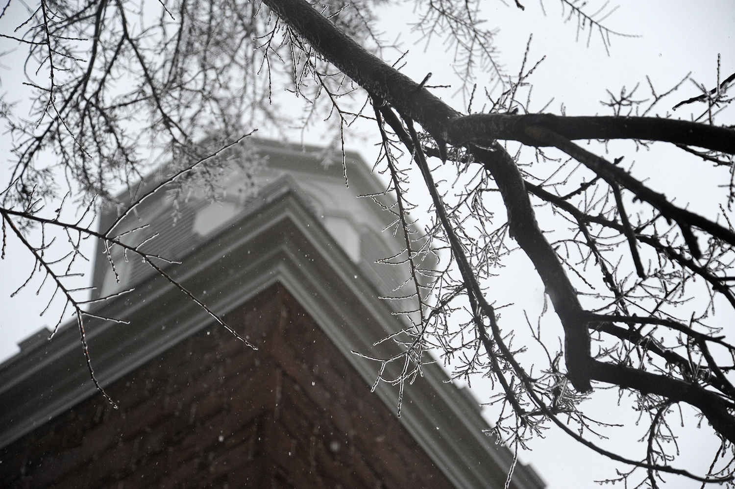 Icy morning at Wesleyan, Dec. 9, 2014. (Photo by Olivia Drake MALS '08)