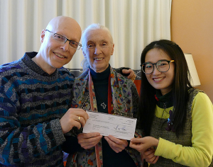 Social Psychology Network donated $10,000 to the Jane Goodall Institute in honor of Qian Zhang and other students who completed the Day of Compassion assignment.