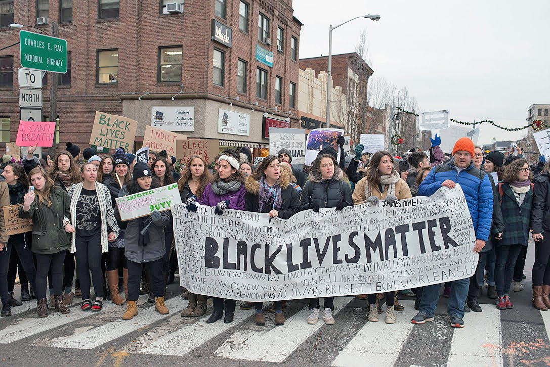 Wesleyan students, accompanied by faculty, staff and community members, led a Black Lives Matter March Dec. 3.