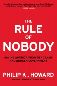 "Howard's book, ""The Rule of Nobody."""