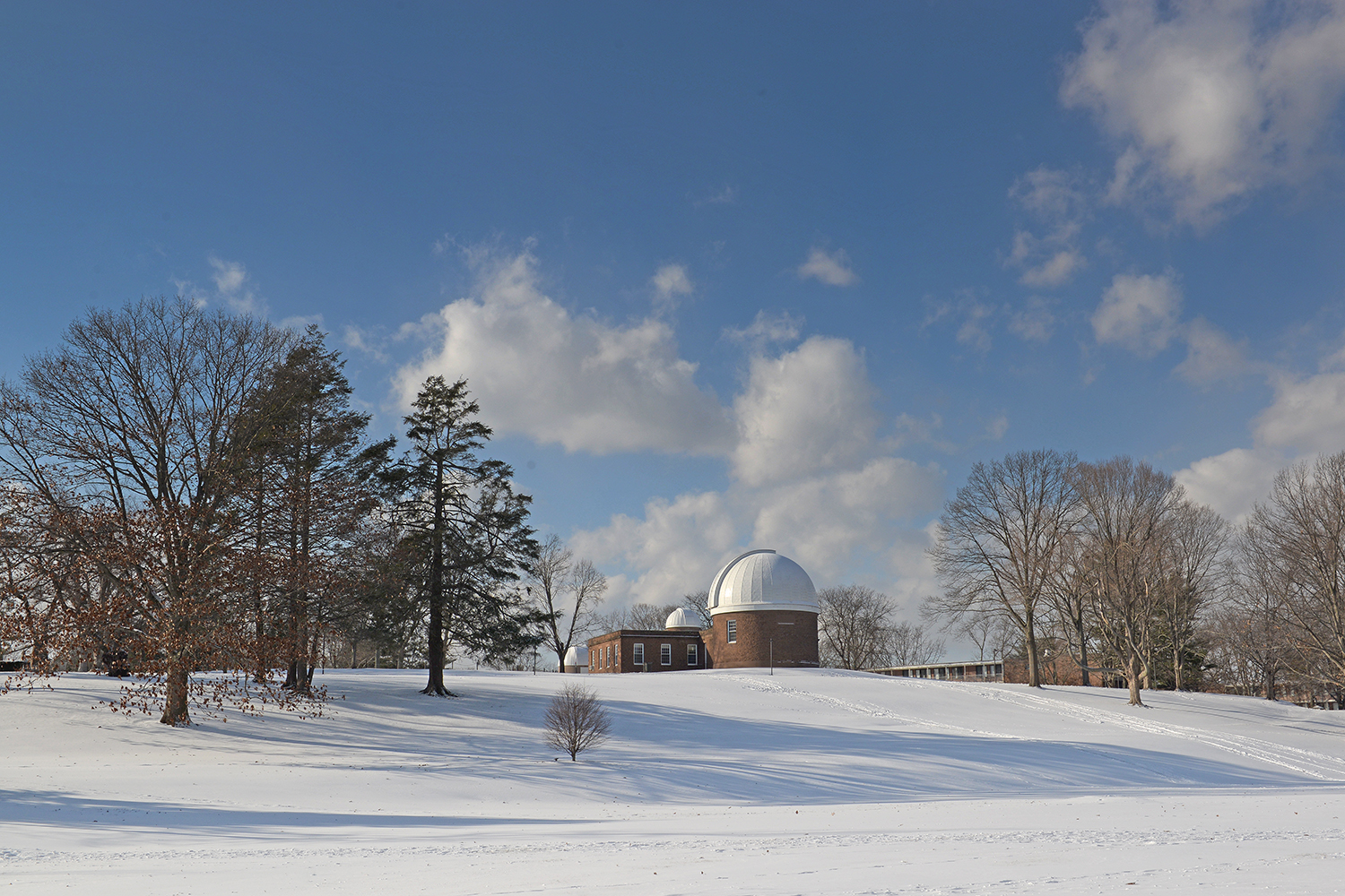 Van Vleck Observatory and Foss Hill.