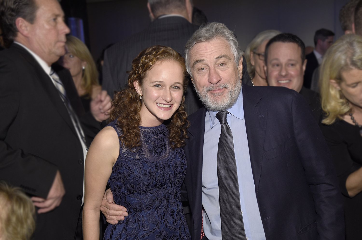 Ella Israeli '17 mingled with entertainer/philanthropist Robert De Niro at the Ripple of Hope Gala and Awards Dinner, held Dec. 16 in New York City.  The event was supported by the Robert F. Kennedy Center for Justice and Human Rights.