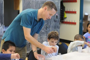 Brian Northrop works with children at the Green Street Arts Center.