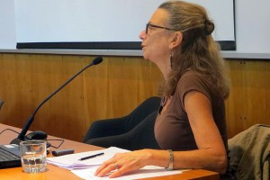 "Kari Weil, University Professor of Letters, director of the College of Letters, spoke on ""Current Trends in American Animal Studies Educational Diplomacy"" at the U.S. Embassy in Santiago, Chile."