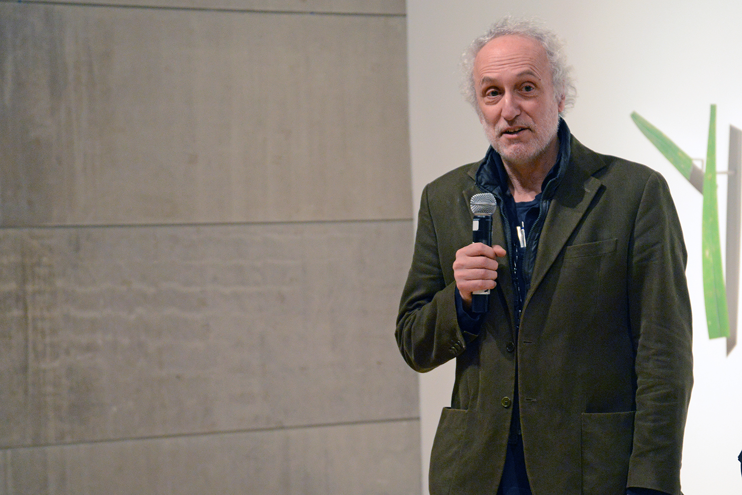 Jeffrey Schiff explained how the artists included in the exhibition take varying approaches to material, technology, and presentation, expanding and redrawing the traditional perimeters of both.