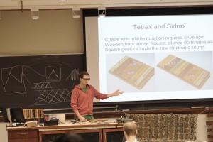 Blasser recently presented his research  to fellow graduate students and faculty.