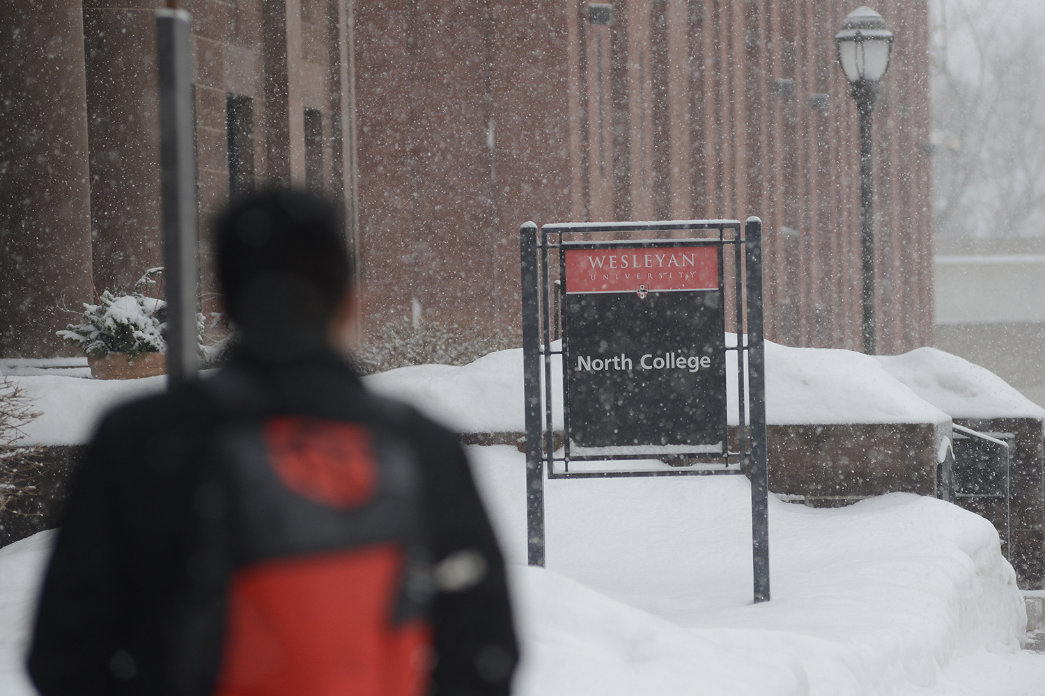 Winter at Wesleyan, Feb. 5, 2015. (Photo by Olivia Drake MALS '08)