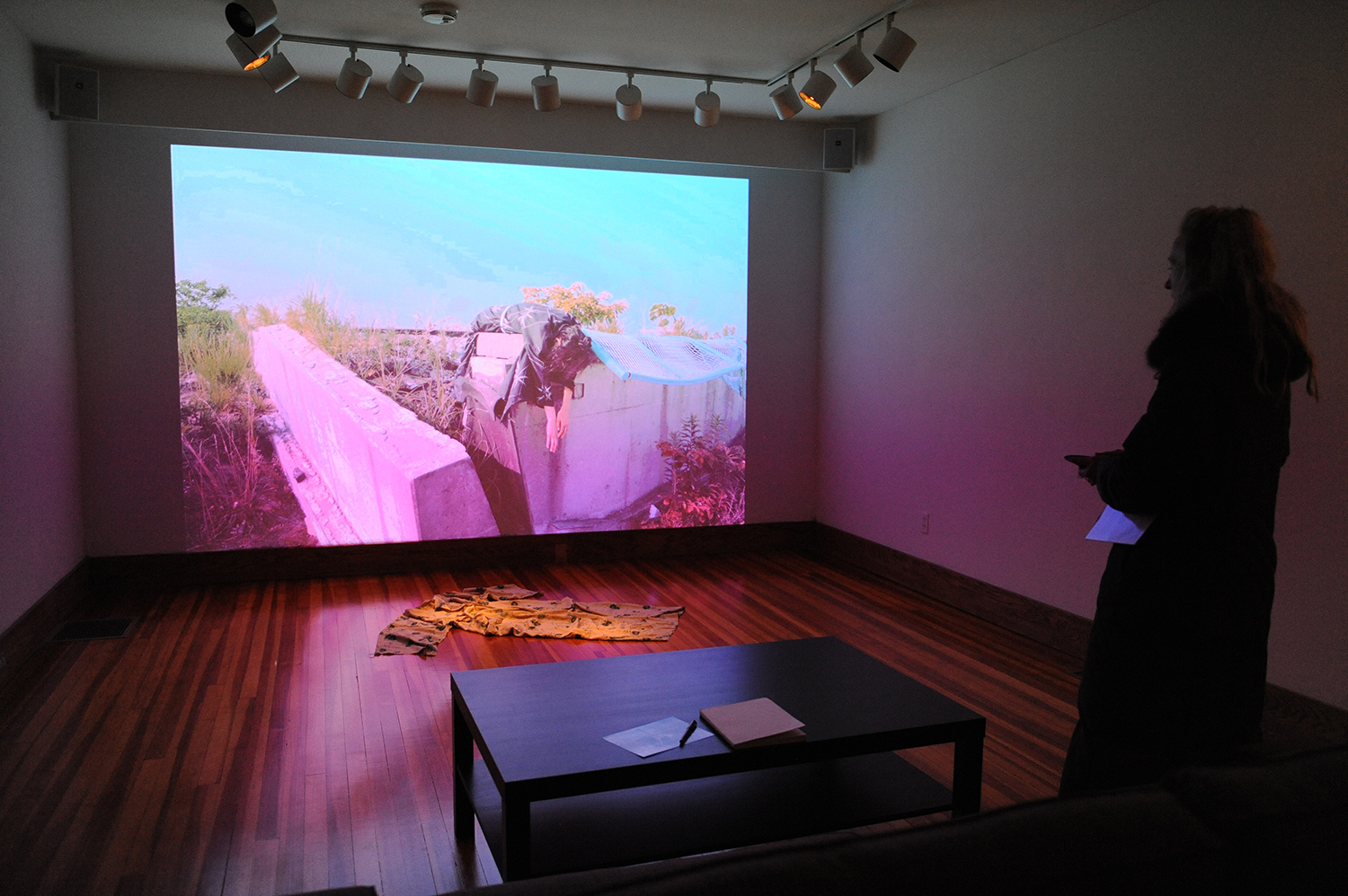 The exhibit features a photo and a video installation.