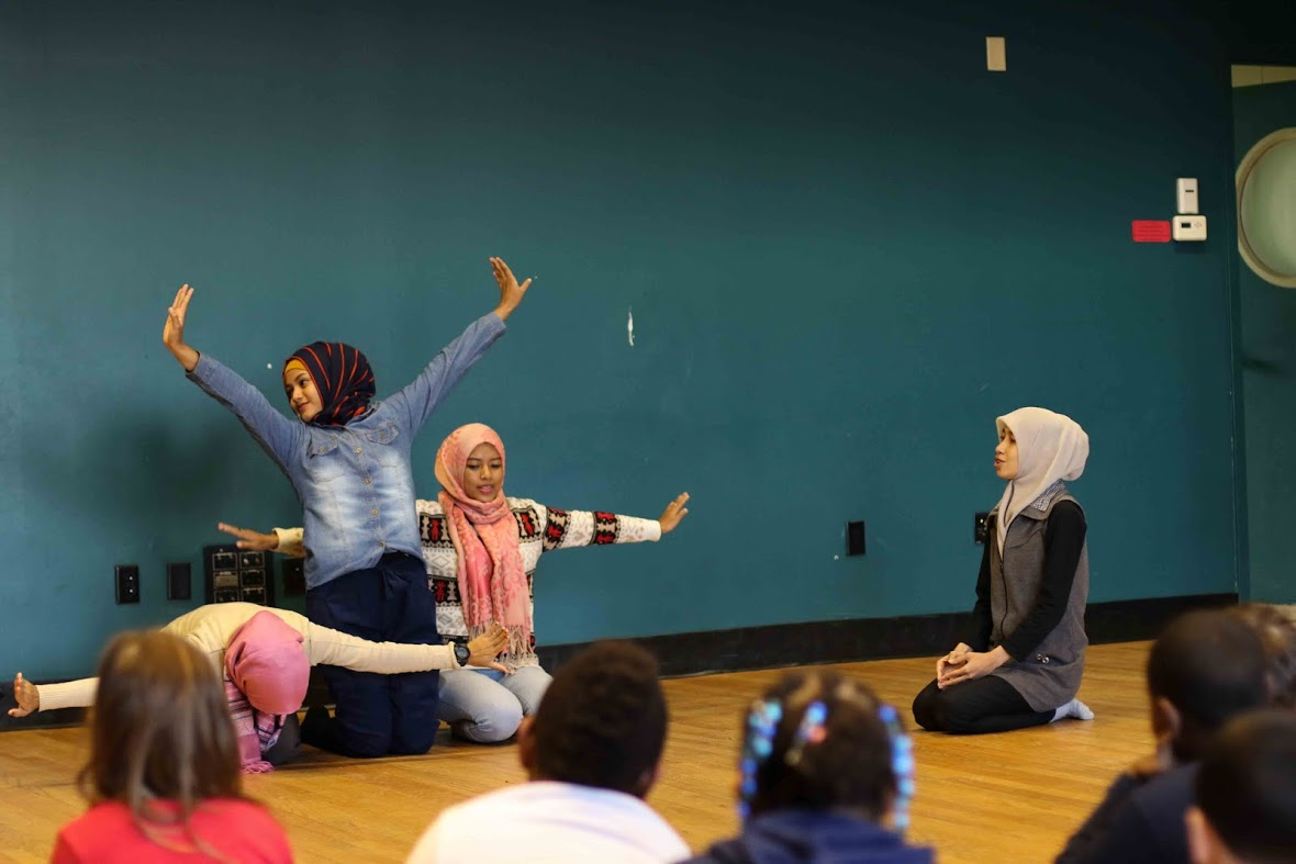 Tari Aceh! performers worked with students at the Green Street Arts Center Feb. 25.