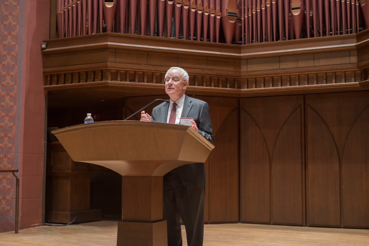 Robert Post, dean and Sol & Lillian Goldman Professor of Law at Yale Law School, delivered the 24th Annual Hugo L. Black Lecture on Freedom of Expression Feb. 19 in Memorial Chapel.