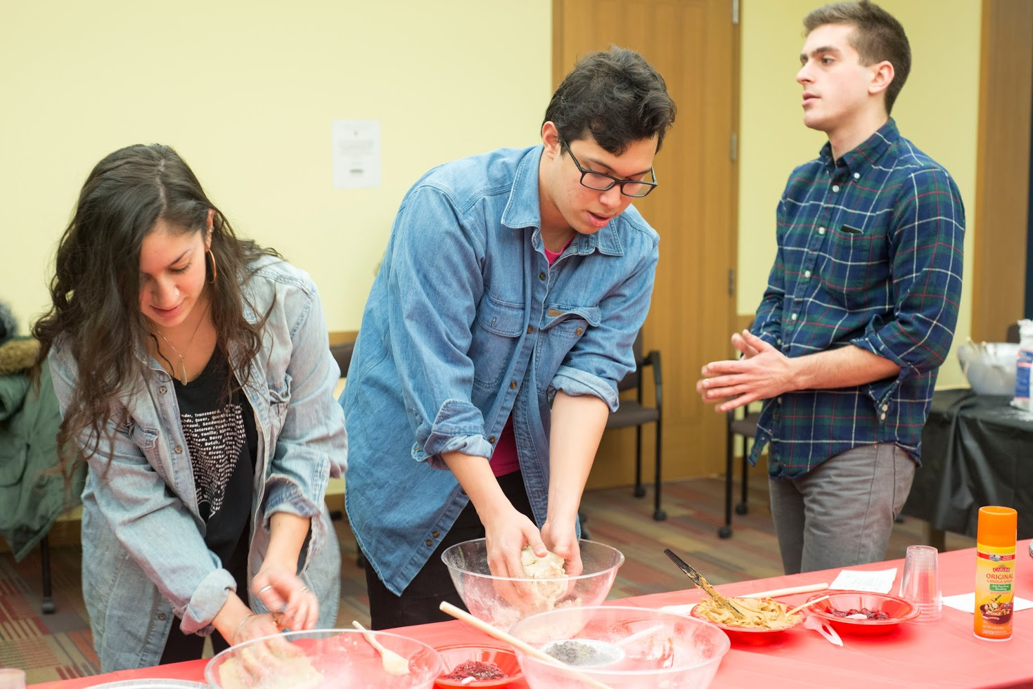 """Making hamantaschen from scratch is surprisingly simple, even for people like me who have no baking skills but still want to connect to a yummy tradition,"" Rebecca Seidel '15 said. ""It was a great way to take a break from midterms while feeling a bit closer to home."""