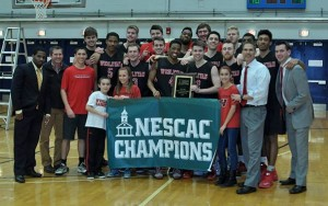 Wesleyan defeated Amherst, 74-70, in the championship game of the New England Small College Athletic Conference (NESCAC) Men's Basketball Tournament this afternoon. Sixth-seeded Wesleyan improves to 19-8 with its sixth victory in a row, and earns an automatic bid to the NCAA Division III Championship Tournament.