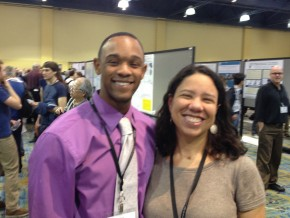 E&ES major James Dottin '13 met Marty Gilmore at the conference.