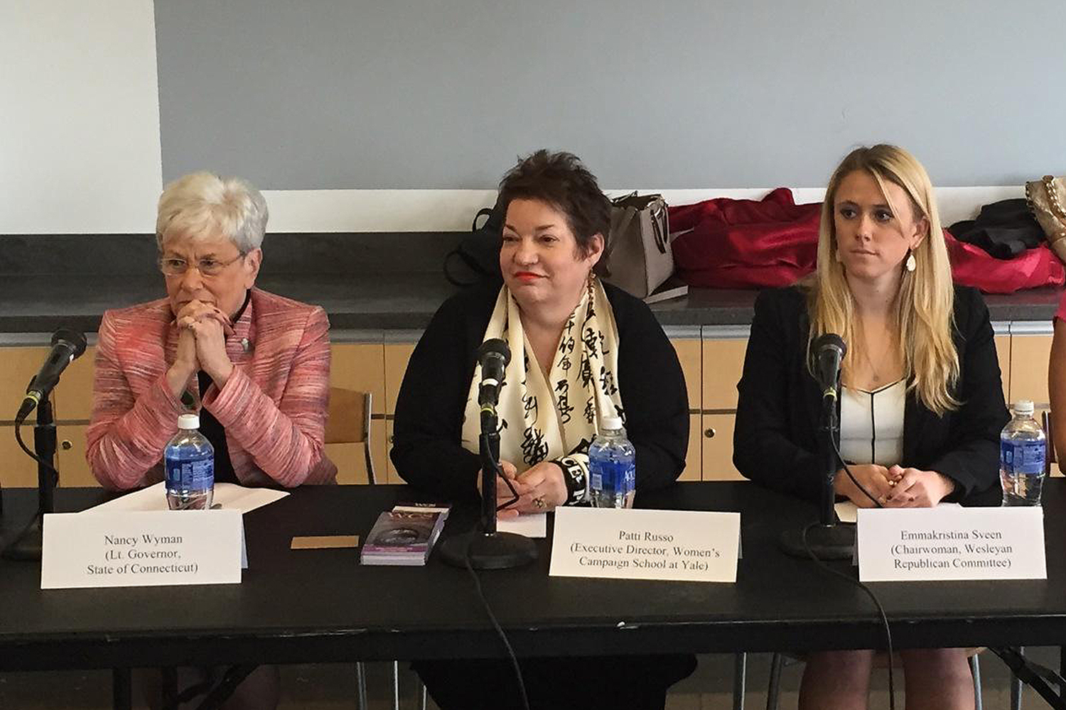Sveen joined Leutenant Governor Nancy Wyman, Executive Director of the Women's Campaign School at Yale Patti Russo, and Connecticut House Minority Leader Themis Klarides (not pictured) on the panel, speaking about the role of women in politics today.