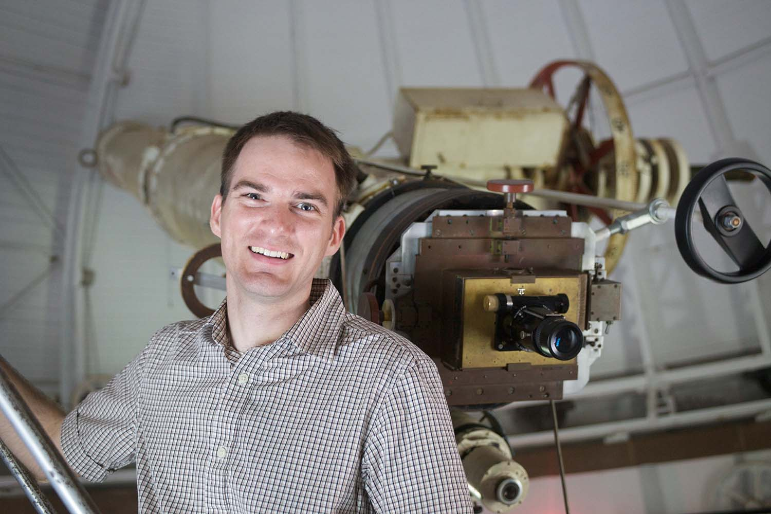 Seth Redfield, astronomy professor of astronomy, campus director of the NASA CT Space Grant Consortium, reports that several students and faculty have recently been awarded grants for their research in astronomy.  Photo c/o Redfield